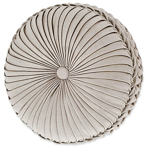 Tufted Round Decorative Pillow : Buy J. Queen New York Mirabella Tufted Round Throw Pillow in Beige from Bed Bath & Beyond