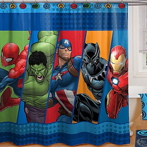Marvel 174 Comics Shower Curtain Collection Bed Bath Amp Beyond
