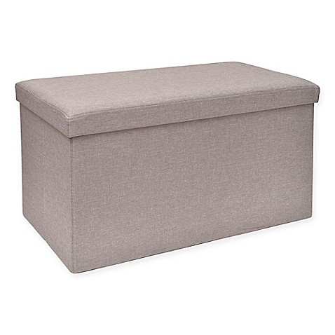 Studio 3Bu0026trade; Folding Storage Ottoman With Tray