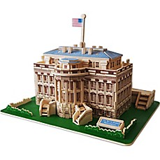 image of Puzzled The White House 128-Piece 3D Wooden Puzzle