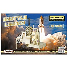 image of Puzzled Shuttle Launch 46-Piece 3D Wooden Puzzle