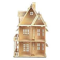 image of Puzzled Gothic House 161-Piece 3D Wooden Puzzle