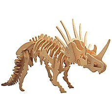 image of Puzzled Styracosaurus 41-Piece 3D Wooden Puzzle