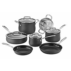 image of Cuisinart® Nonstick Silhouette Hard Anodized 11-Piece Cookware Set in Grey