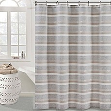 image of KAS ROOM Zerna Shower Curtain in Silver