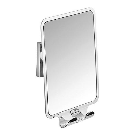 wenko vacuum loc quadro fog free mirror in chrome bed bath beyond. Black Bedroom Furniture Sets. Home Design Ideas