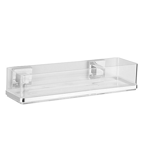 buy wenko vacuum loc quadro wall shelf in chrome from bed bath beyond. Black Bedroom Furniture Sets. Home Design Ideas