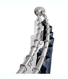 Cortinero para baño curvo de aluminio inoxidable  NeverRust™ TITAN™ doble
