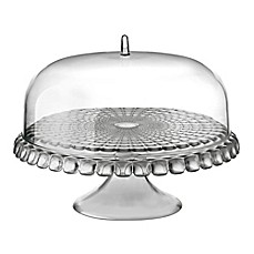 image of Fratelli Guzzini Tiffany Cake Stand and Dome Set