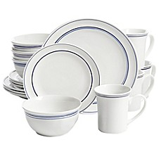 Gibson Home Porto 32-Piece Dinnerware Set in Blue  sc 1 st  Bed Bath \u0026 Beyond & expanded dinnerware sets | Bed Bath \u0026 Beyond
