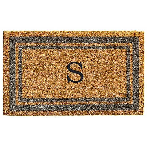 Home Amp More Monogram Letter Border Door Mat In Periwinkle