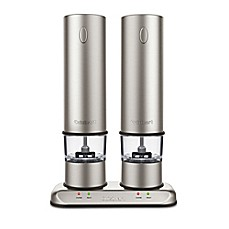 image of Cuisinart® Rechargeable Electric Salt & Pepper Mill Set in Brushed Stainless Steel