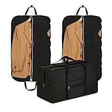image of honeycando travel suit bag u0026 duffel bag set in