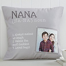 image of Definition of Grandma Square Photo Pillow