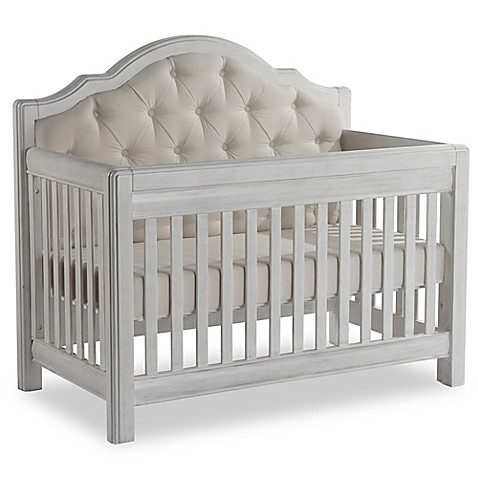image of pali cristallo forever 4in1 convertible crib in vintage white