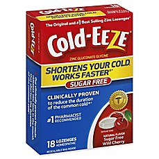 image of Cold-Eeze® 18-Count Zinc Lozenges in Sugar Free Wild Cherry
