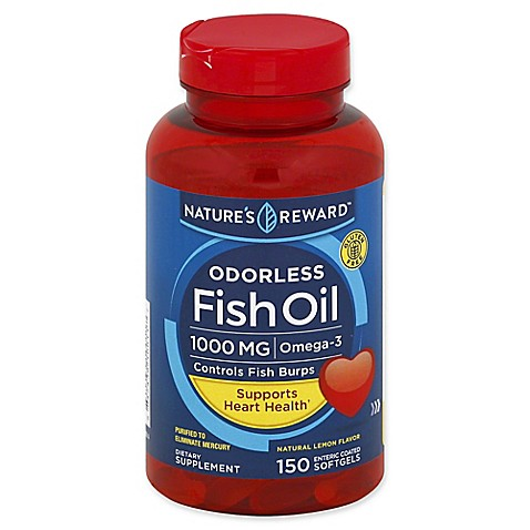 Buy nature 39 s reward 150 count 1000 mcg odorless fish oil for Fish oil for add