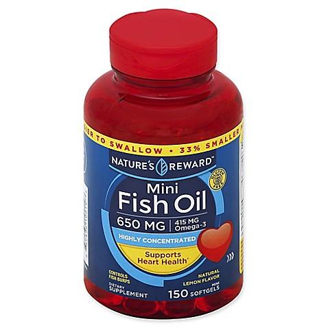 Nature 39 s reward 150 count 650 mcg mini fish oil softgels for Fish oil for add