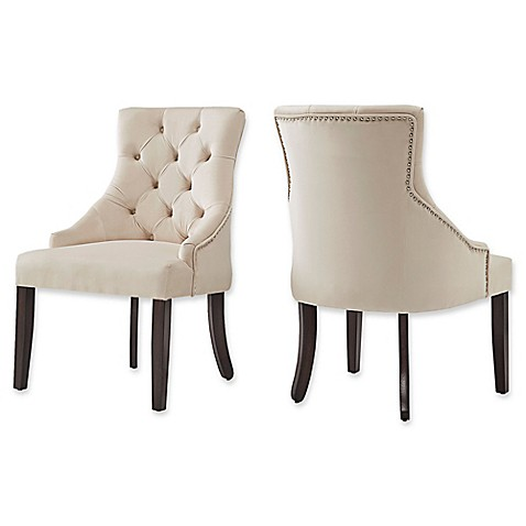 Verona Home Treviso Velvet Tufted Hourglass Dining Chairs (Set Of 2)