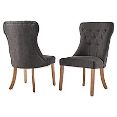 image of Verona Home Astoria Tufted Hourglass Dining Chairs (Set of 2)