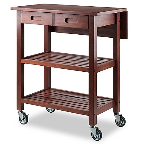 Winsome Trading Jonathan Kitchen Cart In Walnut Bed Bath Beyond