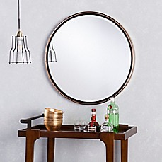 image of Holly & Martin® Wais Round Wall Mirror in Champagne