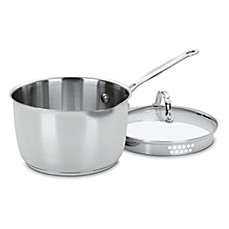 image of Cuisinart® Chef's Classic™ Stainless Steel 3-Quart Cook and Pour Saucepan with Lid