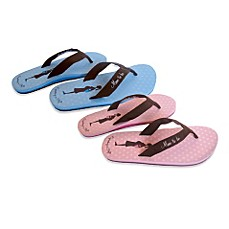 image of Bonnie Marcus Expecting in Style Flip Flops
