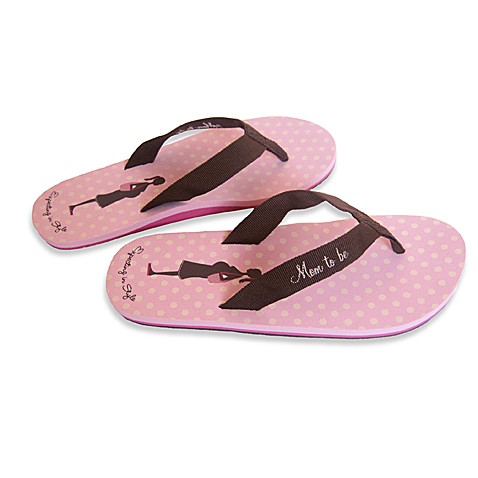 Bonnie Marcus Expecting in Style Size Medium Flip Flops in Pink