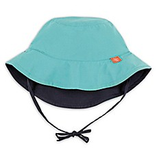 image of Lassig™ Reversible Sun Protection Bucket Hat in Teal/Navy