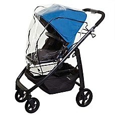 image of Dreambaby® Stroller Weather Shield in Black Trim Clear/black
