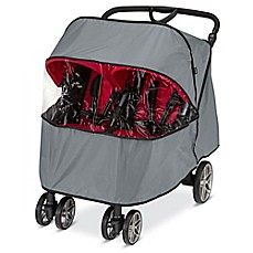 image of BRITAX B-Agile Double Rain Cover in Grey/Clear