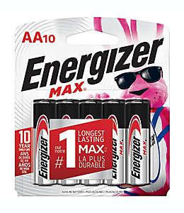 Baterías AA, Max Energizer® Paquete de 10 pzas.