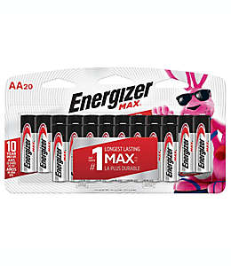 Baterías AA, MAX Energizer® Paquete de 20 pzas.