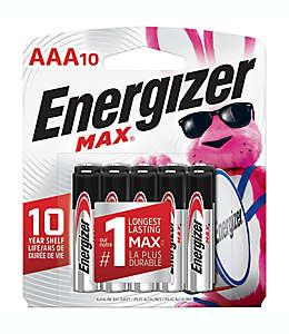 Baterías AAA, MAX Energizer® Paquete de 10 pzas.