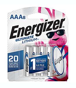 Baterías Ultimate Lithium AAA, Energizer® Paquete de 8 pzas.
