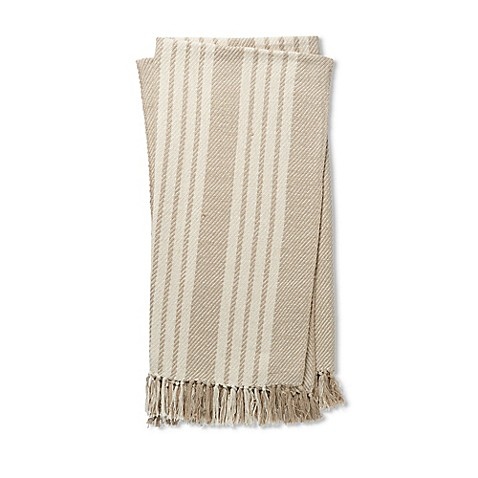 Magnolia Home by Joanna Gaines Lora Throw Blanket in Beige/Ivory