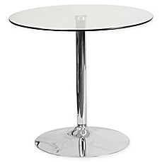 image of Flash Furniture 31.5-Inch Round Glass Table in Chrome