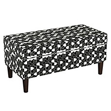 image of Cloth & Company Storage Bench in Fashion Black
