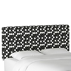 image of Cloth & Company Upholstered Headboard in Fashion Black
