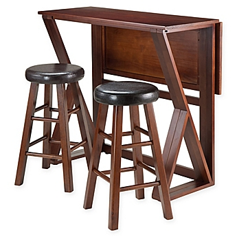Image Of Winsome Harrington 3 Piece Dining Set With Walnut Finish
