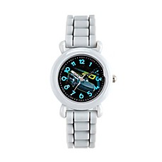 image of Disney® Cars 3 Children's 32mm Jackson Storm Time Teacher Watch in White w/Silicone Strap