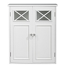 image of Elegant Homes Fashions Allison 2-Door Wall Cabinet in White