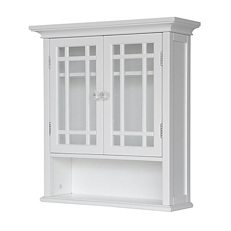 Elegant Home Fashions Hadley 2 Door Wall Cabinet In White