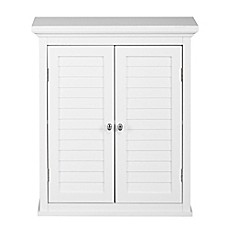 image of Elegant Home Fashions Jackie 2-Door Wall Cabinet in White