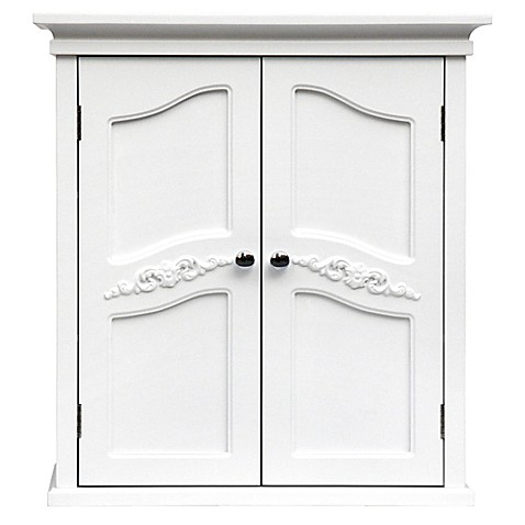 Elegant Home Fashions Versailles 2 Door Wall Cabinet In White