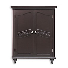 Image Of Elegant Home Fashions Versailles 2 Door Floor Cabinet In Dark  Espresso