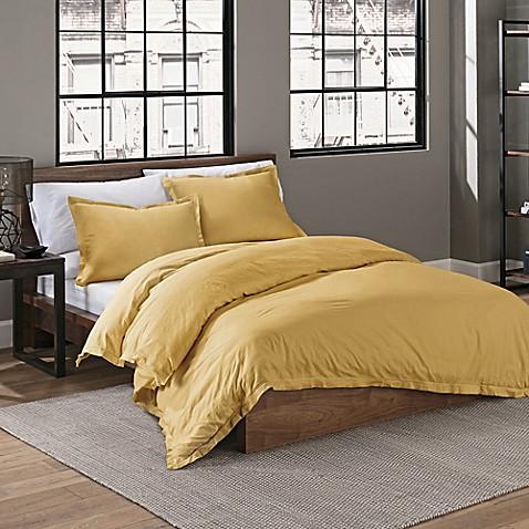 Buy Garment Washed Solid Full Queen Comforter Set In