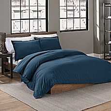 image of Garment Washed Duvet Cover Set