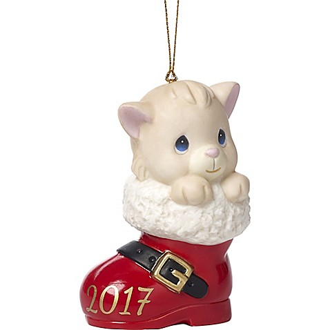 Precious Moments® Small Have a Pawsitively Soleful Christmas Ornament in Red